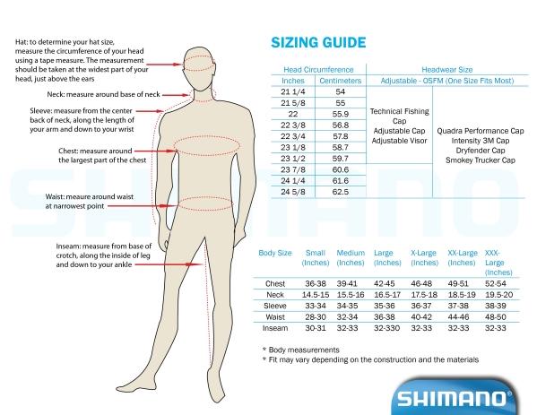 Shimano Sizing Chart