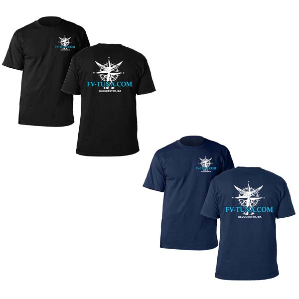1b6e9641d94 Wicked Tuna Compass Rose FV-Tuna.com T-shirt - $25.00 : Pelagic ...